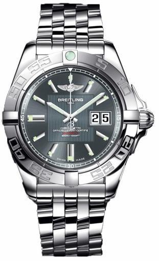 Фото швейцарских часов Мужские швейцарские наручные часы Breitling Galactic A49350L2/F549/366A