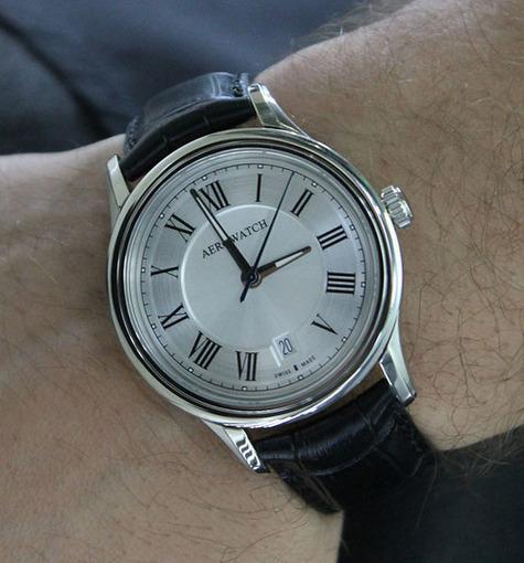 Фото швейцарских часов Мужские швейцарские наручные часы Aerowatch Les Grandes Classiques 24962 AA01