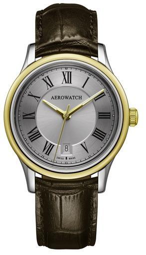 Фото швейцарских часов Мужские швейцарские наручные часы Aerowatch Les Grandes Classiques 24962 BI01