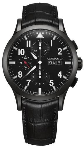 Фото швейцарских часов Мужские швейцарские наручные часы Aerowatch Les Grandes Classiques 61948 NO03