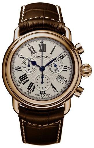 Фото швейцарских часов Мужские швейцарские наручные часы Aerowatch Collection 1942 Quartz 83926 RO01