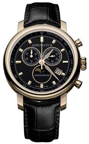 Фото швейцарских часов Мужские швейцарские наручные часы Aerowatch Renaissance 84936 RO01