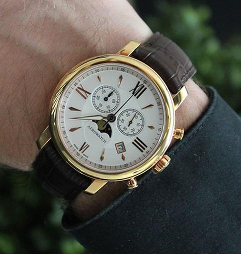 Фото швейцарских часов Мужские швейцарские наручные часы Aerowatch Renaissance 84936 RO02