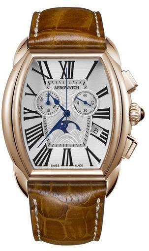 Фото швейцарских часов  швейцарские наручные часы Aerowatch StreamlineCHRONOGRAPH 84957 RO01
