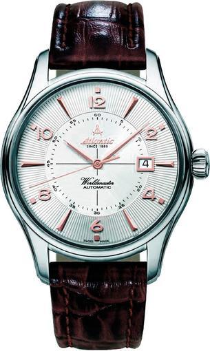 Фото швейцарских часов Мужские швейцарские наручные часы Atlantic WORLDMASTER 52752.41.25R