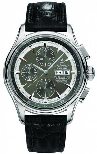 Фото швейцарских часов Мужские швейцарские наручные часы Atlantic WORLDMASTER 52850.41.41S