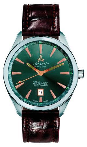 Фото швейцарских часов Мужские швейцарские наручные часы Atlantic WORLDMASTER 53750.41.41R