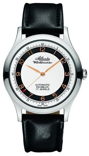 Фото швейцарских часов Мужские швейцарские наручные часы Atlantic WORLDMASTER 53753.41.23R