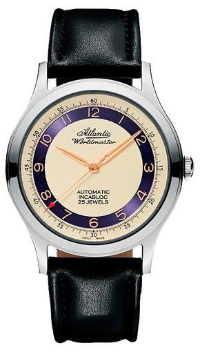 Фото швейцарских часов Мужские швейцарские наручные часы Atlantic WORLDMASTER 53753.41.93R