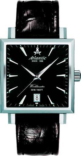 Фото швейцарских часов Мужские швейцарские наручные часы Atlantic WORLDMASTER 54350.41.61
