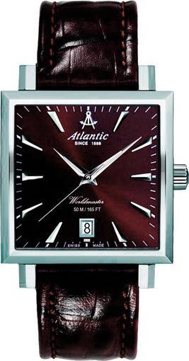 Фото швейцарских часов Мужские швейцарские наручные часы Atlantic Worldmaster Square 54350.41.81
