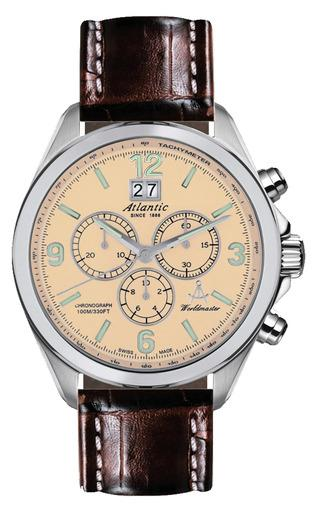 Фото швейцарских часов Мужские швейцарские наручные часы Atlantic Worldmaster 55460.41.95