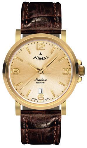 Фото швейцарских часов Мужские швейцарские наручные часы Atlantic Seashore 72360.45.35