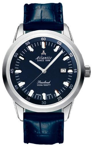 Фото швейцарских часов Мужские швейцарские наручные часы Atlantic Seacloud 73360.41.51