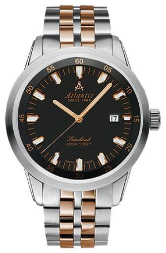 Мужские швейцарские наручные часы Atlantic Seacloud 73365.43.61R