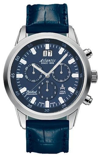 Фото швейцарских часов Мужские швейцарские наручные часы Atlantic Seacloud 73460.41.51