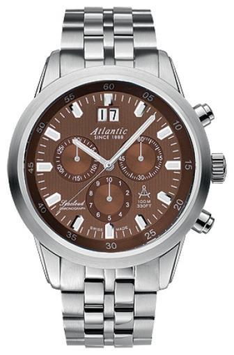 Фото швейцарских часов Мужские швейцарские наручные часы Atlantic Seacloud 73465.41.81