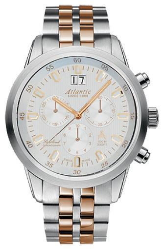 Фото швейцарских часов Мужские швейцарские наручные часы Atlantic Seacloud 73465.43.21R