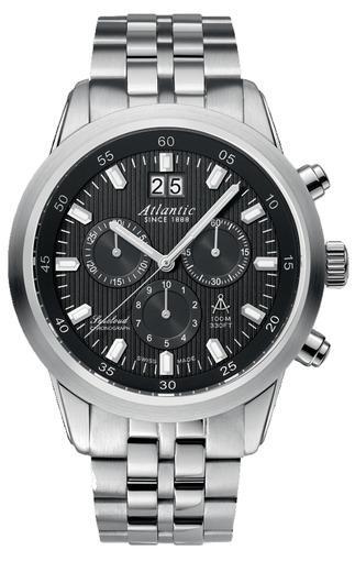 Фото швейцарских часов Мужские швейцарские наручные часы Atlantic Seacloud 73465.41.61