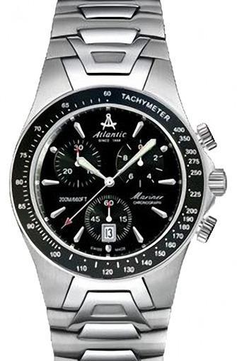 Фото швейцарских часов Мужские швейцарские наручные часы Atlantic Mariner 80476.41.61