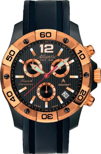 Фото швейцарских часов Мужские швейцарские наручные часы Atlantic Searock 87471.48.65RG