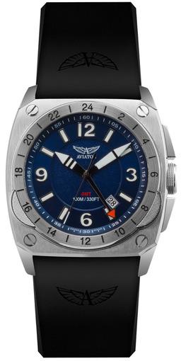 Фото швейцарских часов Мужские швейцарские наручные часы Aviator MIG-29 Cockpit GMT M.1.12.0.052.6