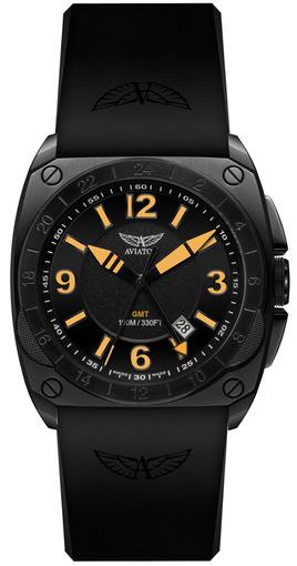 Фото швейцарских часов Мужские швейцарские наручные часы Aviator MIG-29 Cockpit GMT M.1.12.5.053.6