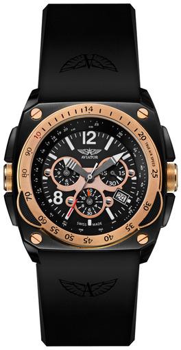 Фото швейцарских часов Мужские швейцарские наручные часы Aviator Cockpit M.2.04.6.010.4