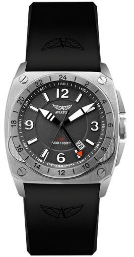 Фото швейцарских часов Мужские швейцарские наручные часы Aviator MIG-29 Cockpit GMT M.1.12.0.051.6