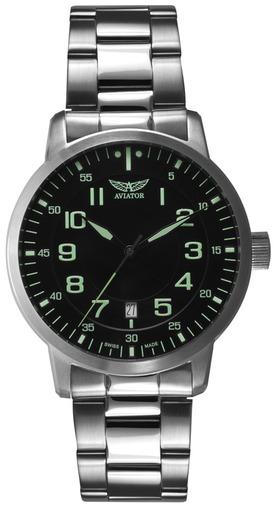 Фото швейцарских часов Мужские швейцарские наручные часы Aviator Aircobra V.1.11.0.041.5