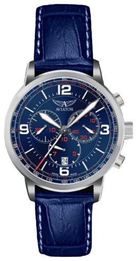 Фото швейцарских часов Мужские швейцарские наручные часы Aviator KINGCOBRA CHRONO V.2.16.0.095.4