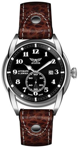 Фото швейцарских часов Мужские швейцарские наручные часы Aviator BRISTOL V.3.07.0.081.4