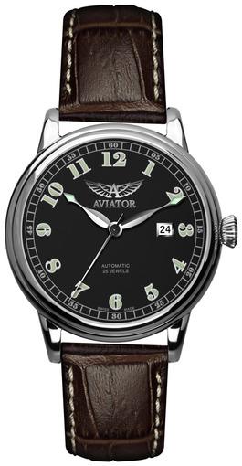 Фото швейцарских часов Мужские швейцарские наручные часы Aviator Vintage Douglas V.3.09.0.025.4