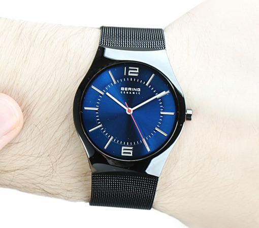 Фото датских часов Мужские датские наручные часы Bering Ceramic 32039-447