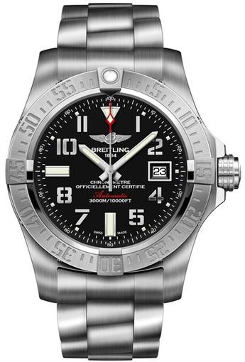 Фото швейцарских часов Мужские швейцарские наручные часы Breitling Avenger seawolf A1733110/BC31/169A