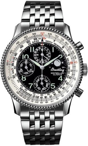 Фото швейцарских часов Мужские швейцарские наручные часы Breitling Montbrillant Olympus A1935012/B774/431A