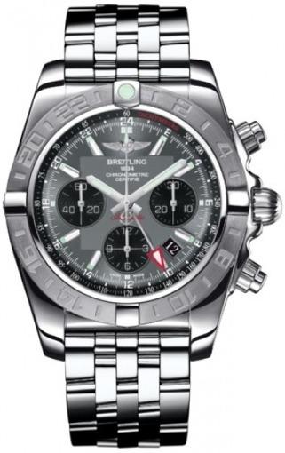Фото швейцарских часов Мужские швейцарские наручные часы Breitling Chromomat 44 GMT AB042011/F561/375A