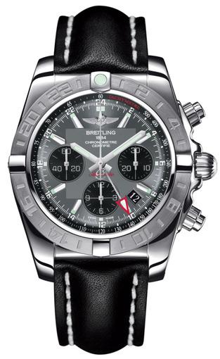 Фото швейцарских часов Мужские швейцарские наручные часы Breitling Chronomat 44 GMT AB042011/F561/435X