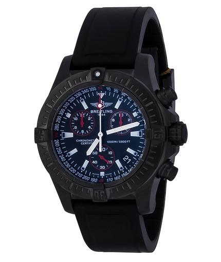 Фото швейцарских часов Мужские швейцарские наручные часы Breitling Avenger Seawolf Chrono Blacksteel M7339010/BA03/134S