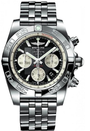Фото швейцарских часов Мужские швейцарские наручные часы Breitling CHROMOMAT 44 AB011012/B967/375A