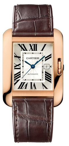 Фото швейцарских часов Женские швейцарские наручные часы Cartier Tank Anglaise Medium W5310005