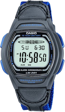 Фото японских часов Женские японские наручные часы Casio Illuminator LW-201B-2A