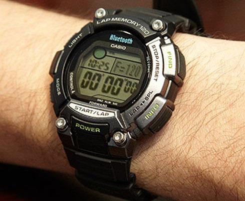 Фото японских часов Мужские японские наручные часы Casio Sports Gear Bluetooth STB-1000-1E