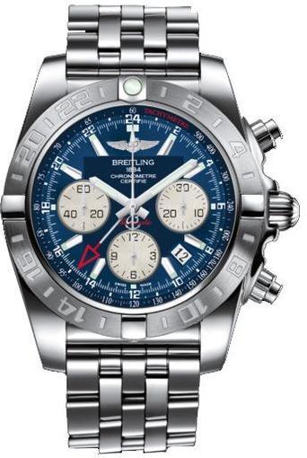 Фото швейцарских часов Мужские швейцарские наручные часы Breitling Chronomat 44 GMT AB042011/C851/375A