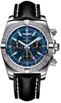 Фото швейцарских часов Мужские швейцарские наручные часы Breitling Chronomat 44 GMT AB042011/C852/435X