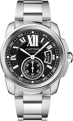 Фото швейцарских часов Мужские швейцарские наручные часы Cartier Calibre de Cartier W7100016