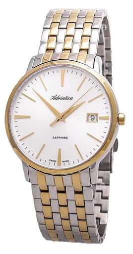 714b6ab9ca1d Купить мужские наручные часы Adriatica Gents Twin A1243.2113Q по ...
