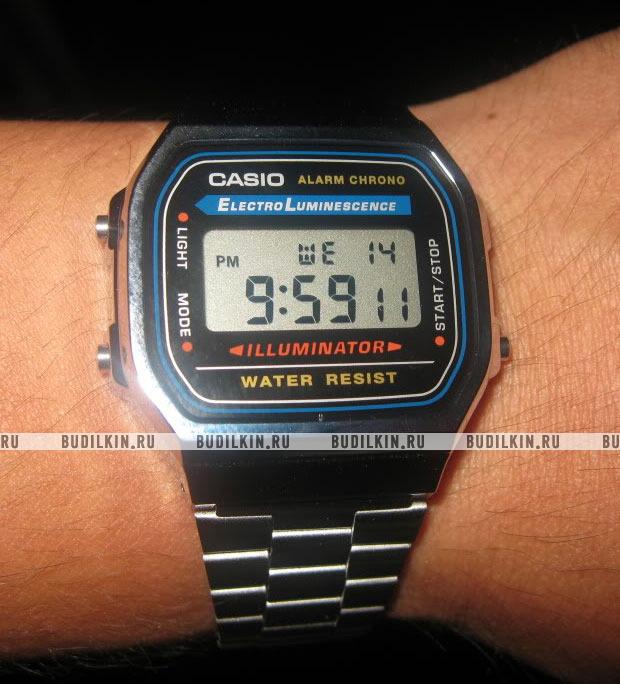 Купить мужские японские наручные часы Casio Standart A-168WA-1 по ... 23f94fb537fe7