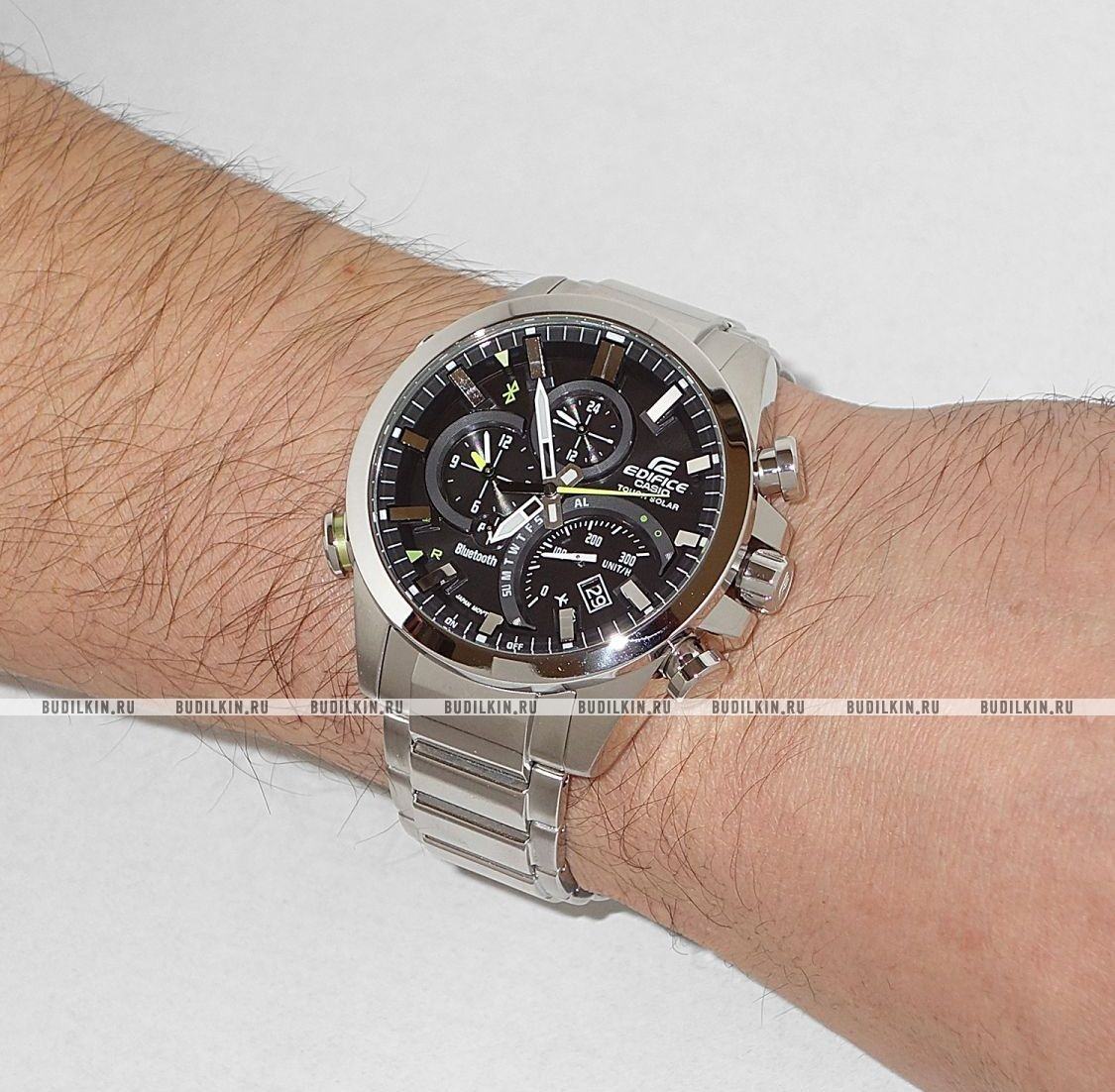27f6556d8811 ... Мужские японские наручные часы Casio Edifice Link With Smartphone EQB -500D-1A