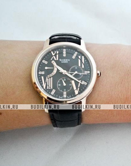 17ba2cd472ab ... Фото японских часов Женские японские наручные часы Casio Sheen  SHE-3024GL-5A
